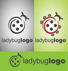 ladybug logo vector image