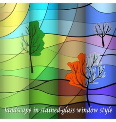 landscape in four sesons vector image
