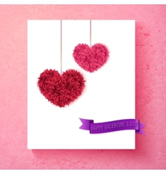 Loving Valentine card design with hearts vector image