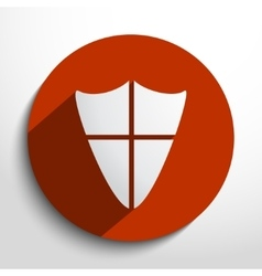 shield web icon vector image