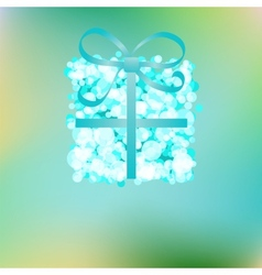 Blue gift box on abstract Christmas EPS8 vector image vector image