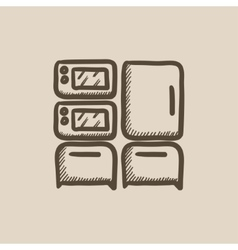 Household appliances sketch icon vector image