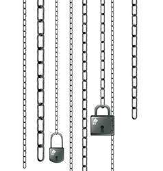 lock with chains vector image vector image