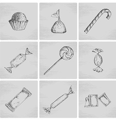 Sketch candy icons vector image vector image