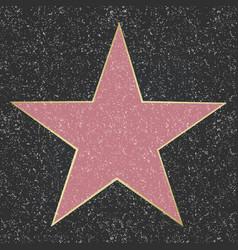 Walk of fame star vector