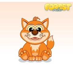 Cute Cartoon Red Fox Funny Animal vector image vector image