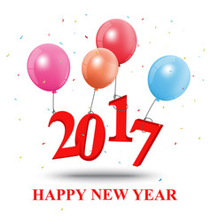 happy new year greeting card design vector image