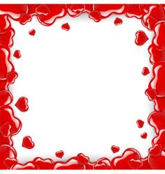 Heart Frame Over White vector image vector image