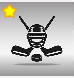 Hockey black icon button logo symbol vector