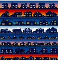 house silhouettes background vector image vector image