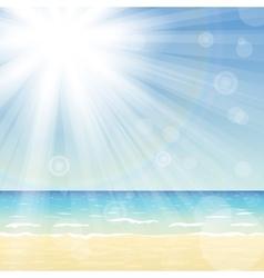 Ocean landscape with bright sun vector image vector image