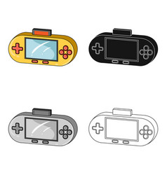 game console single icon in cartoonblackoutline vector image