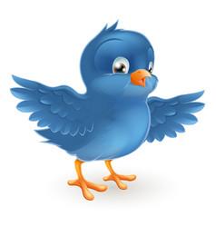 happy bluebird vector image
