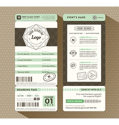 Hipster design Boarding Pass Event ticket vector image vector image