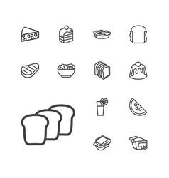 13 slice icons vector