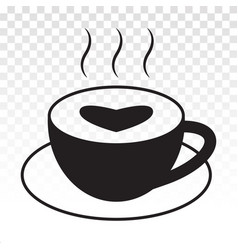 A cup espresso or coffee latte flat icons vector
