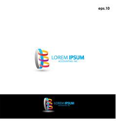 abstract logo accounting vector image