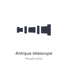 antique telescope outline icon isolated line from vector image