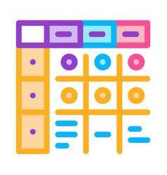 Apgar score newborn color icon vector