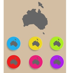 Australia Map - icon isolated vector image