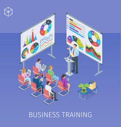 Banner on theme business training vector