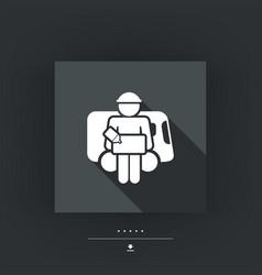 bellboy concept icon vector image