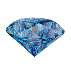blue diamond isolated on white background vector image