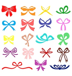 Bow set color vector