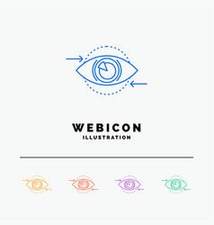 business eye marketing vision plan 5 color line vector image
