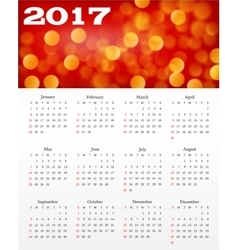 calendar with abstract red background vector image