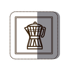 coffee moka pot icon vector image