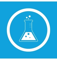 Conical flask sign icon vector