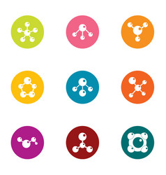 Connective tissue icons set flat style vector