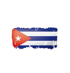 Cuba flag on a white vector
