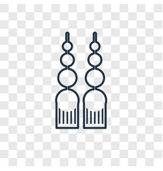 dangling earrings concept linear icon isolated on vector image