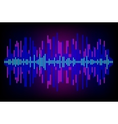 Digital Equalizer Abstract music volume infinity vector image