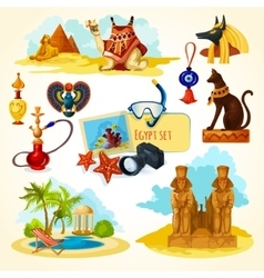 Egypt Touristic Set vector