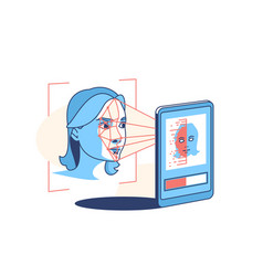 face recognition and scanning vector image