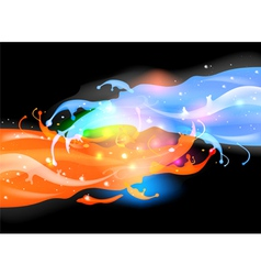 Fantastic splashing vector image