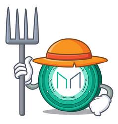 Farmer maker coin character cartoon vector