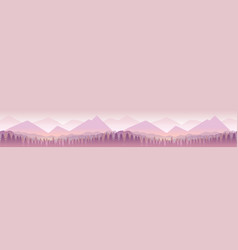 forest and mountains nature landscape panorama vector image