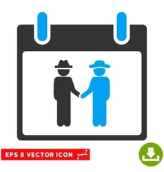 Gemtlemen Handshake Calendar Day Eps Icon vector