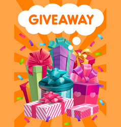 giveaway gifts promo social advertising vector image