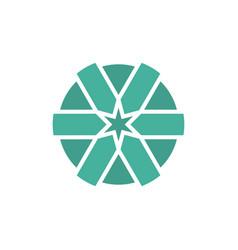 globe arrow symbol vector image