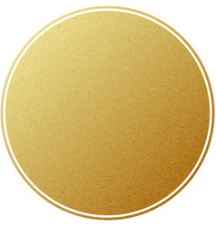 Golden label round circle with glitter texture vector