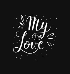 hand drawn romantic quote vector image vector image