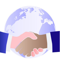 handshake men different nationalities the vector image