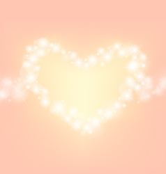 heart abstrack sparkling frame orange pink backgro vector image