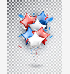 Helium star balloons composition in national vector