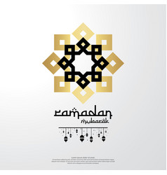 islamic design concept abstract mandala with vector image